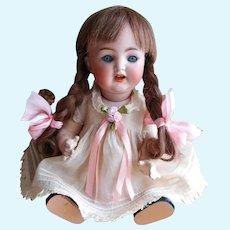 "Simon & Halbig K * R 126 GERMANY 26 Baby Doll So Sweet!  FRENCH Human Hair 10 1/4"" Tall"