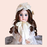 Vintage Doll Bonnet Cream Silk Ribbon Millinery Flowers