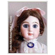 Vintage Doll French Enamel Pin w/ New Pair Faux Drop Pearl Earrings SET