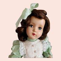 """R & B Arranbee Hard Plastic Vintage Doll 21"""" Height"""