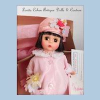 """Vintage Madame Alexander Doll 8"""" Tall Unplayed With in Box Easter Sunday #340"""