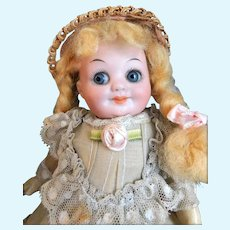 "2 Pieces: Armand Marseille 323 GOOGLY 6 3/4"" Tall Doll All Original GERMANY. Extra Little Fairy Antique 1920's Bath Perfume Powder NEVER OPENED!~"