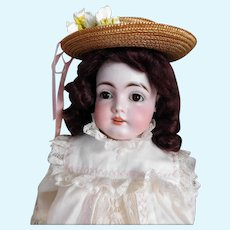 """Antique German KESTNER Doll Eyebrows Full & Complete 16"""" Tall EXCELLENT CONDITION! Mold 145 Cabinet Size Presentation Ready LC-159"""