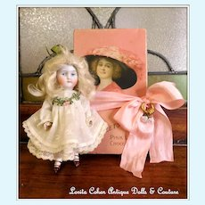 Kestner 620.4 Doll Mignonette Antique Doll, Dress Lovely Face! Victorian 1880's Chocolate Box INCLUDED!