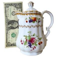 Vintage Doll Bone China Coffeepot SPODE COPELANDS China England 'Rockingham' Heavy Gold No Damage 24KT Trim LOVELY!~
