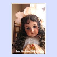 Sweet C.M. Bergmann Waltershausen Doll 1916 / 12 w/ Antique Embroidered Dress Ensemble Leather Shoes