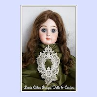 "Antique Point Venise Lace Piece for Dolls Lovely Complete 4 1/2"" x 6 1/2"""