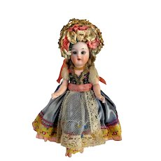 "Antique German Mignonette 6"" Kammer Star Reinhardt Doll Adorable!~"