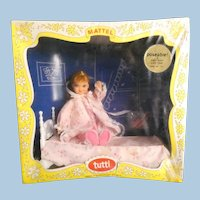 TUTTI by Mattel Boxed Set #3553 Circa 1965 'Night Night Sleep Tight' Gift Set NEVER REMOVED from Box ORIGINAL Cello/Plastic Covering Hard-to-Find!~ Pristine!