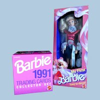 Barbie Set / 1990 Convention Barbie: Deep in the Heart of Texas DALLAS Doll Never Removed from Box & 1991 Box of Barbie Collector Cards