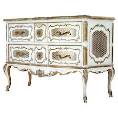 20th Century Rococo style 6 drawer commode