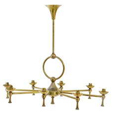 1920's 8 arm brass Chandelier