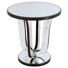 20th Century mirrored occasional table