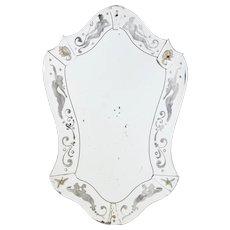 Art Deco mythical themed wall mirror