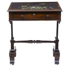 19th century Regency rosewood painted slate top table