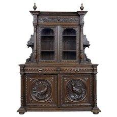 19th century Victorian carved oak dresser