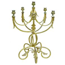 19th century French ormolu 6 candle candelabra