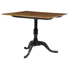 19th century Swedish birch square tilt top table