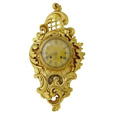 Swedish gilt carved wall clock by Westerstrand