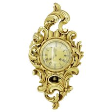 20th century Swedish Westerstrand carved and gilt ornate wall clock