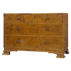 20th Century birch commode chest of drawers