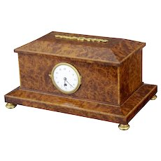 1920's Burr yew wood clock box