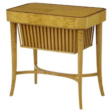 20th century 1950's Swedish birch sewing work table by Bodafors