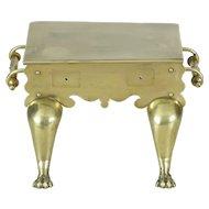 19th Century Victorian brass trivet footman