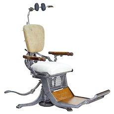 19th century American decorative cast iron dentist chair