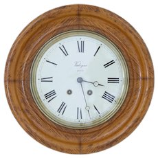 19th century French oak Japy Freres wall clock