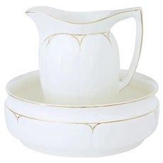 20th Century jug and wash bowl by Annaburg