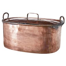 19th century Victorian large copper cooking vessel
