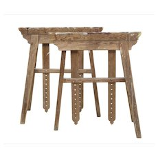 Quality pair of early 20th Century trestle table bases
