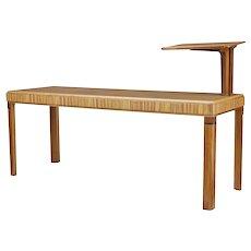 Art Deco oak lecturers desk table