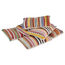 Set of 6 decorative Kalim cushions