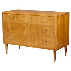 20th century Swedish elm Bodafors chest of drawers