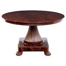 19th century Scandinavian mahogany center table