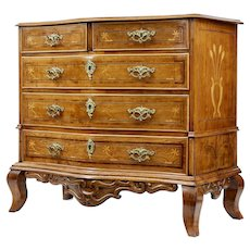 Early 19th century Swedish oak inlaid commode