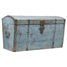 Early 19th century Swedish painted domed top trunk