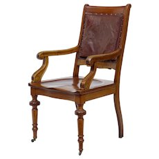 19th Century arts and crafts mahogany desk chair