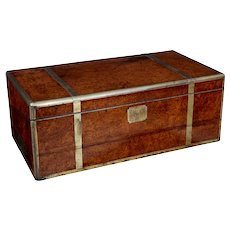 Unusual burr Chinese export writing box