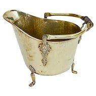 19th century brass coal Scuttle