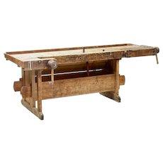 19th century Scandinavian pine work bench