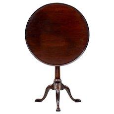 Early 19th century Georgian mahogany tripod table