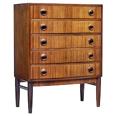 Mid 20th Century small walnut chest of drawers