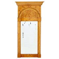 Late 19th century Swedish birch pier mirror