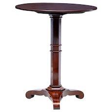 19th century Danish mahogany round tilt top table