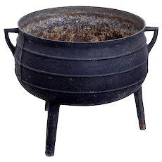 19th Century cast iron vessel pot
