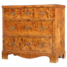 19th century Swedish birch chest of drawers