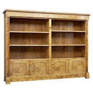 Large art deco birch Scandinavian bookcase